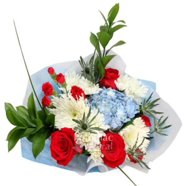 Floral Bouquet USA - Red, White & Blue
