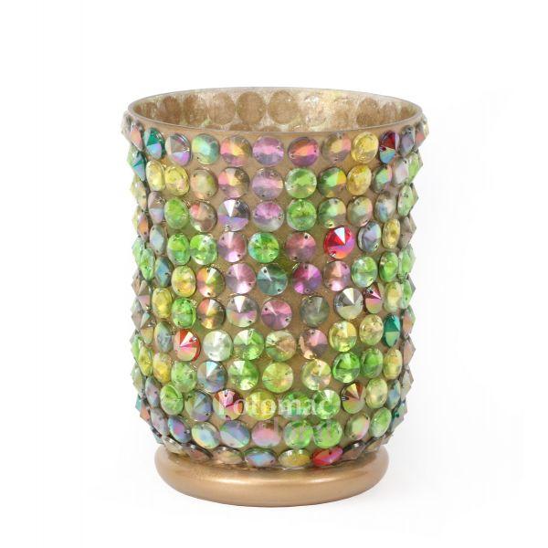 Multi Color Glass Hurricane Vase 6quot Tall X 4 Potomac Floral