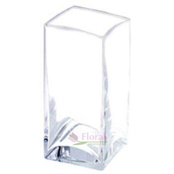 Glass Square Vase 7 Tall X 4 X 4 Potomac Floral Wholesale