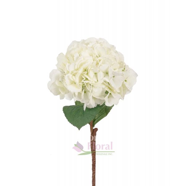 Silk cream mophead hydrangea stem 25 potomac floral wholesale mightylinksfo