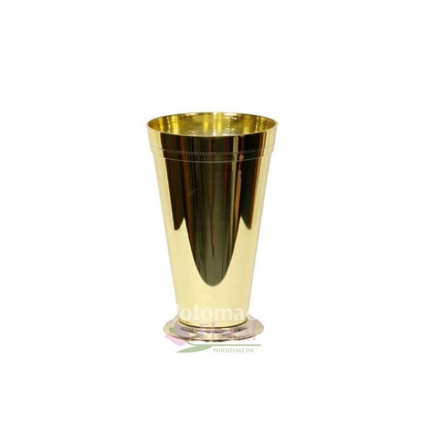 Metallic Gold Plastic Julep Cup Vase 7 1 2 Tall Potomac Floral Wholesale