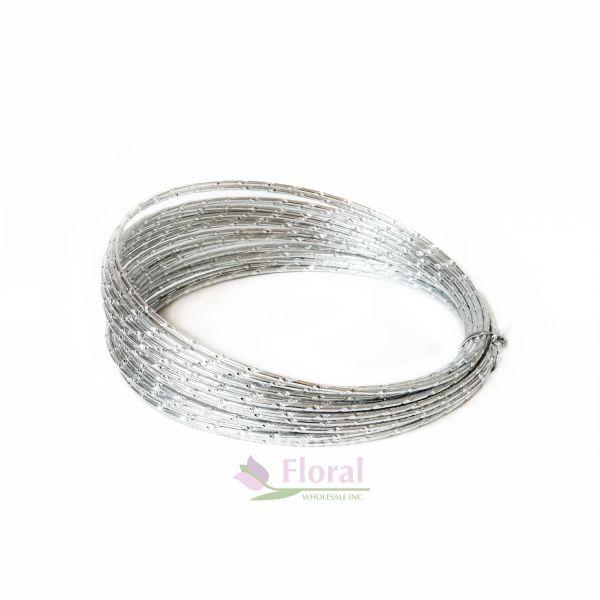 Silver OASIS Diamond Wire 32.8\' x 12 Gauge - Potomac Floral Wholesale